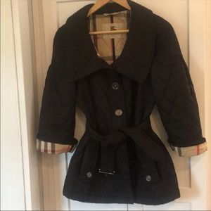 Black Burberry Quilted Jacket Size 4